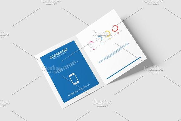 Free Bi-Fold Brochure Mock-Up - US Letter