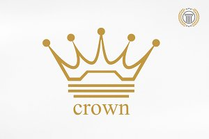 Royal Crown Logo Design | Premium