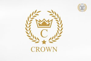 Luxury Crown Logo Design | Premium