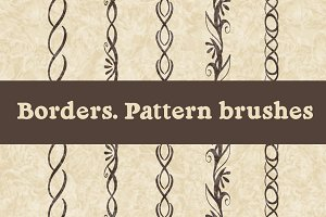 Pattern brushes. Borders