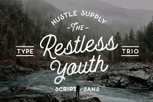 The Restless Youth - Font Bundle
