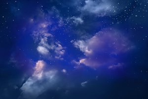 night sky with star.