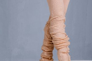 Legs of a ballerina in pointe.