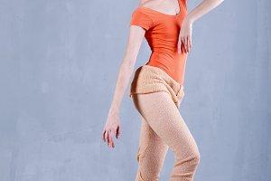 Slim ballerina.