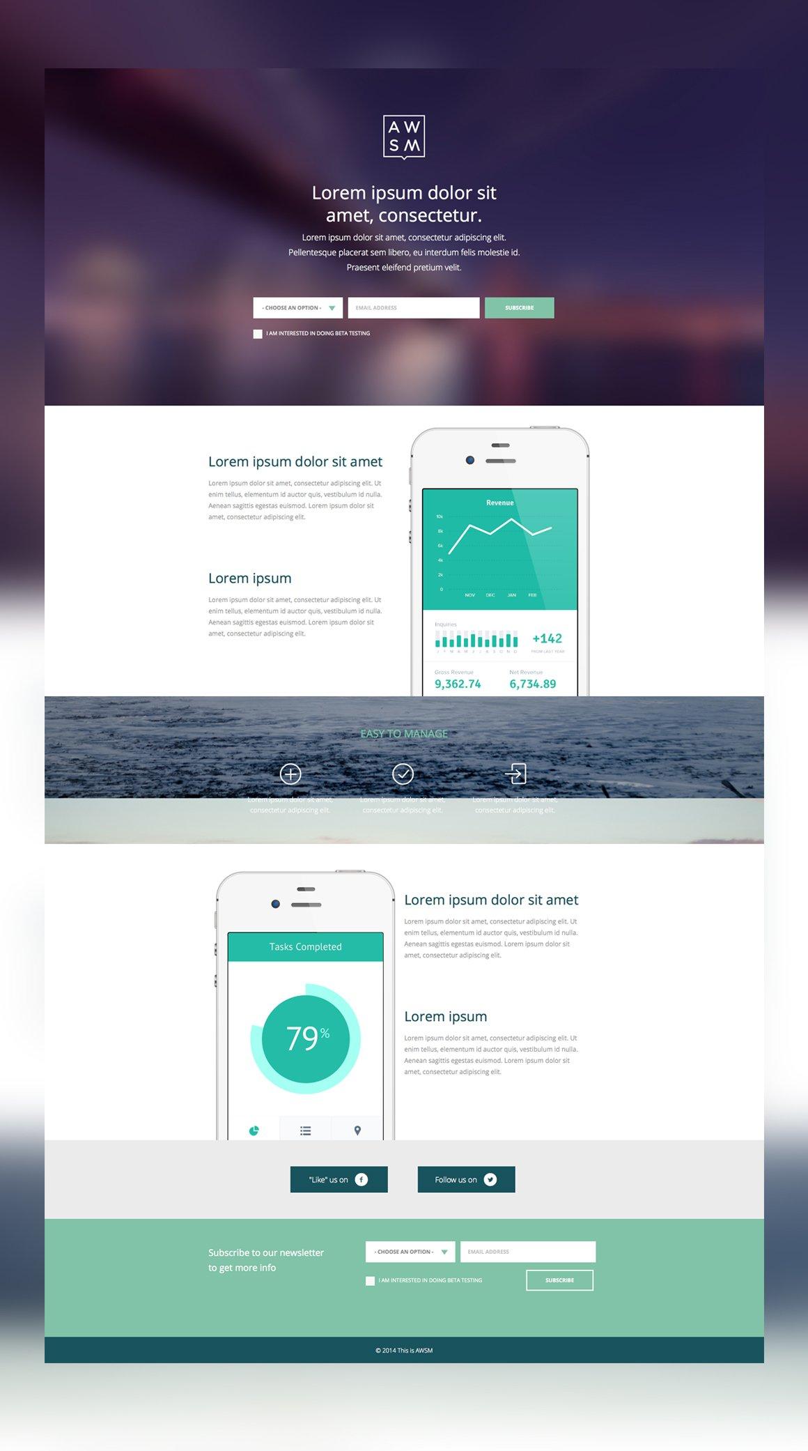 app launch website website templates creative market