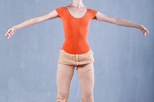 Classical ballet. Slim ballerina.