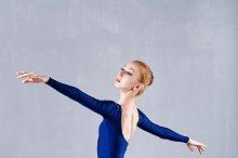 Young slim dancer. Classical Ballet.