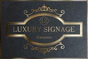 12 Luxury Signage
