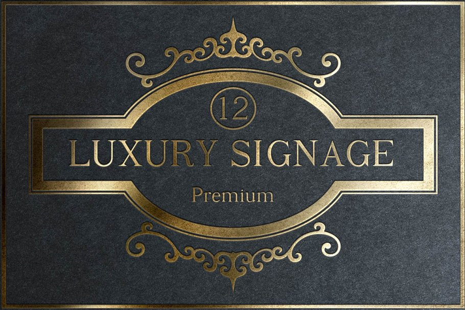 12 Luxury Signage ~ Graphic Objects ~ Creative Market