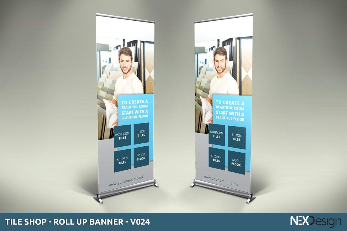 Tile Shop Roll Up Banner Sk Other Presentation