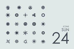 24 Sun icons