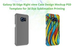 Galaxy S6 Edge 3d Case Mockup Right