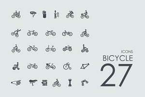 27 Bicycle icons
