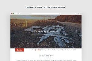Boxify - Responsive HTML5 Theme
