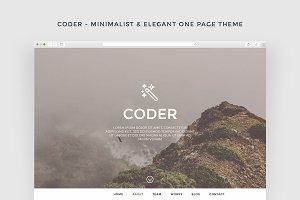Coder - Minimalist Theme + FREE PSD