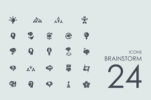 24 Brainstorm icons
