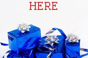Blue shiny boxes