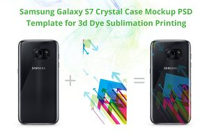 Galaxy S7 Crystal Case Mockup