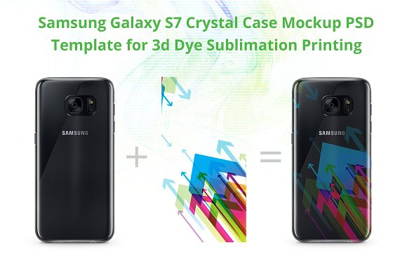 Download Galaxy S7 Crystal Case Mockup