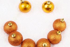 Christmas golden brightly spheres