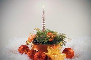 Christmas orange spheres