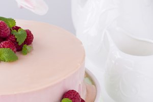 Delicious romantic cake