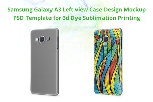 Galaxy A3 3d IMD Case Mockup Left
