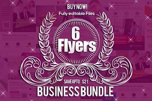 6 Business Agency Flyers Bundle