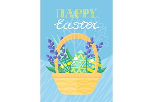 Happy Easter Holiday Card