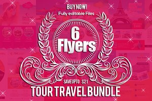 6 Tour Travel Agency Flyers Bundle