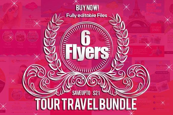 6 Tour Travel Agency Flyers Bundle