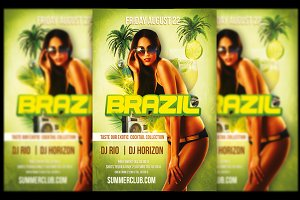 Brazil Night Party Flyer