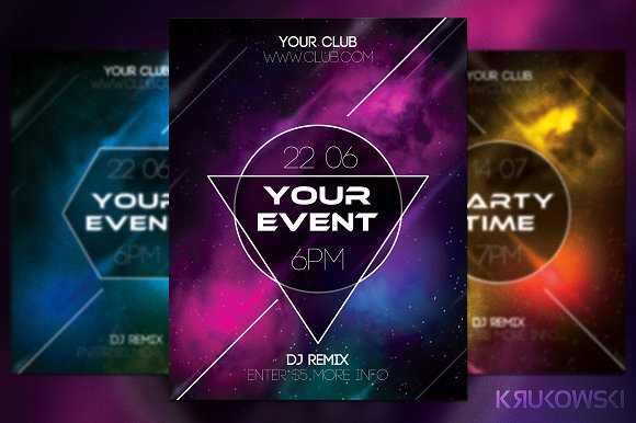 Event flyer flyer templates creative market event flyer flyers pronofoot35fo Image collections