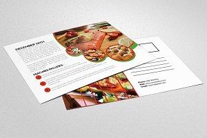 Food Love Resturants Postcard