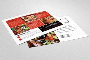 Food & Pizza Resturants Postcard