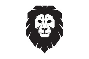 Lion Head Logo - Vector Sign