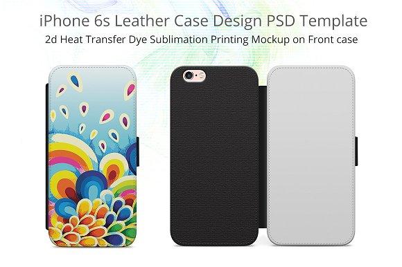 Download iPhone 6-6s Leather Flip Case Mockup