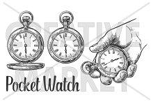 Antique pocket watch engraved