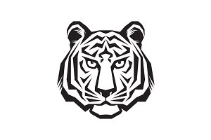 Tiger Head Logo - Vector Sign