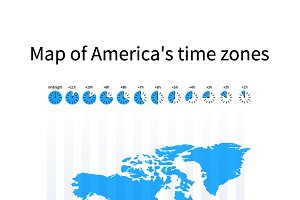 Map of America's time zones