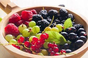 fresh garden berries
