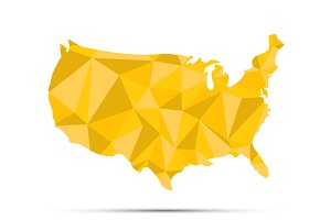USA triangulated map