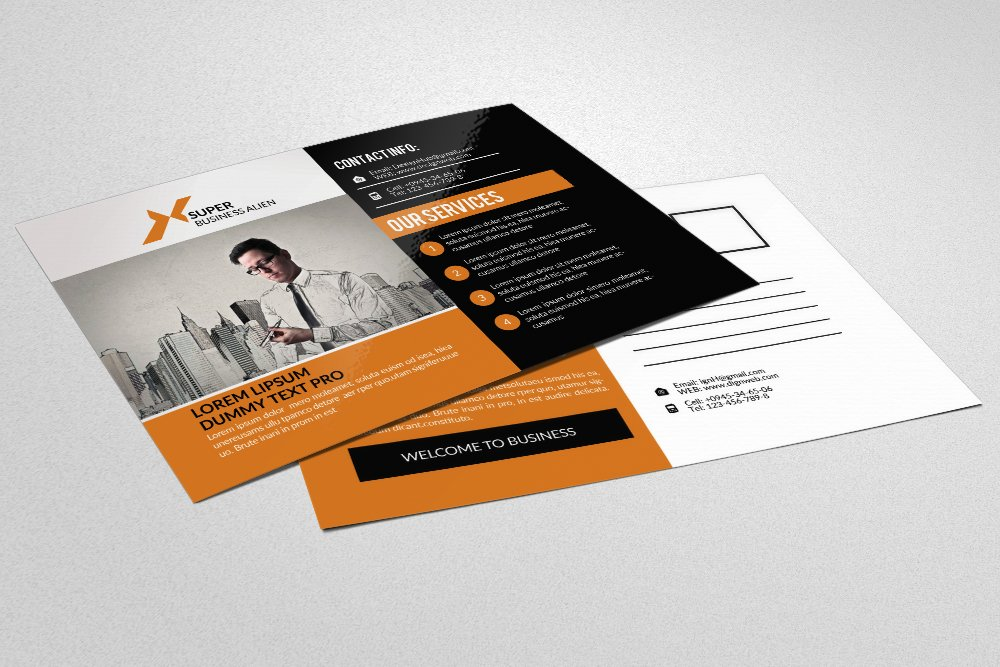 Business Executive Coach Postcard ~ Card Templates ~ Creative Market