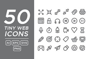 50 Tiny Web Icons