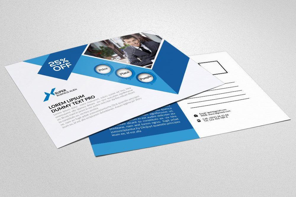 Management Consulting Postcard ~ Card Templates ~ Creative Market