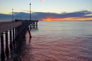 Venice Pier in Purple