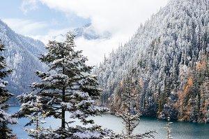 snow season in Jiuzhaigou