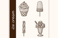 Etching ice cream