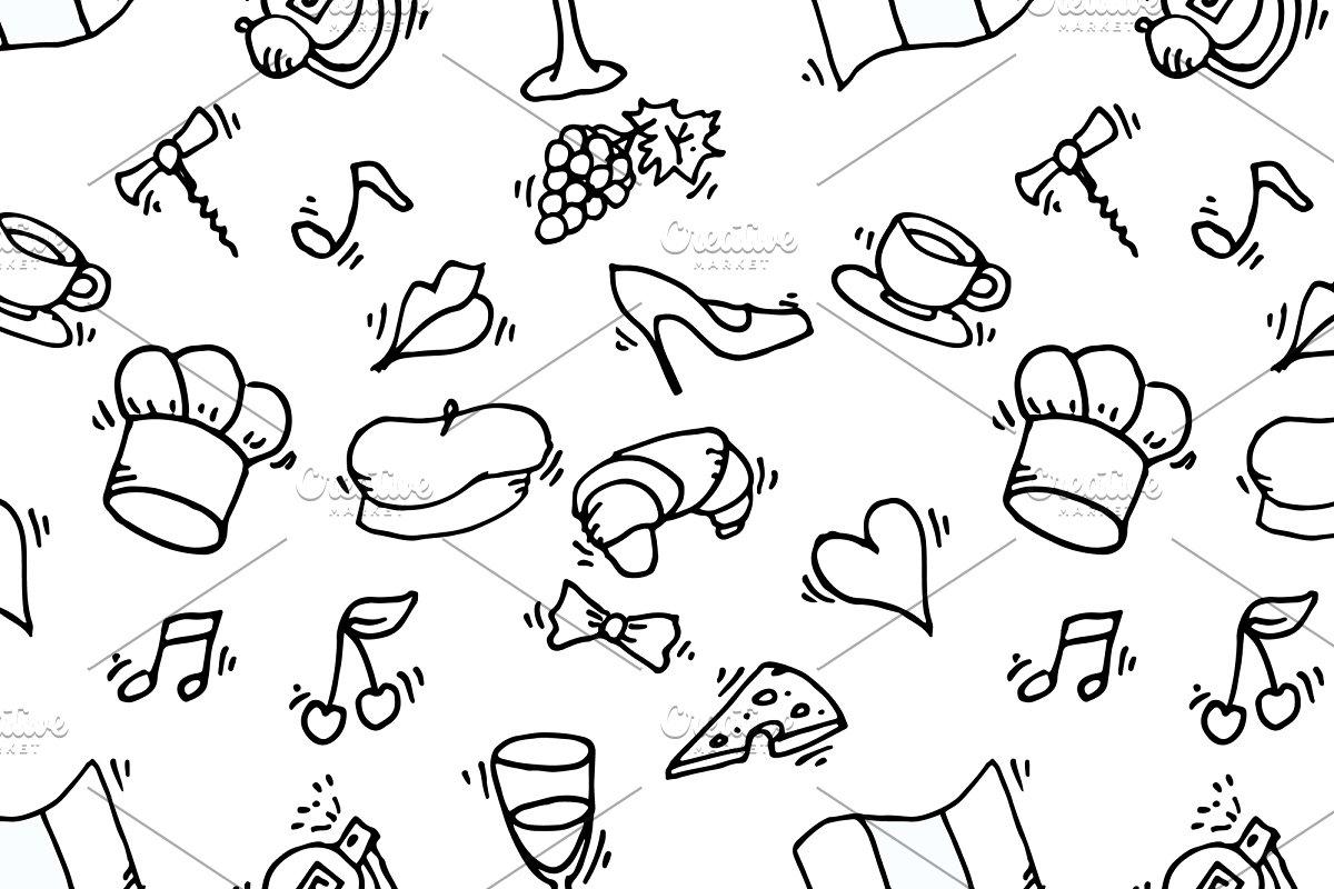 Paris symbols pattern