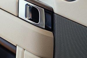 Door panel of luxury car